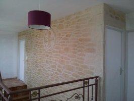 Enduit décoratif interieur fausses pierres